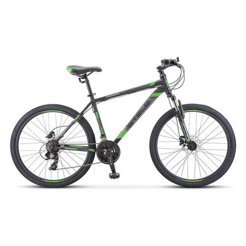 """Велосипед Stels Navigator-500 D (2020) горный рам.:20"""" кол.:26"""" черный/зеленый 16.5кг (LU084377)"""