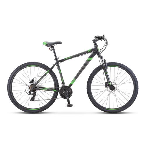 """Велосипед Stels Navigator-900 D (2020) горный рам.:19"""" кол.:29"""" черный/зеленый 18.3кг (LU084392)"""