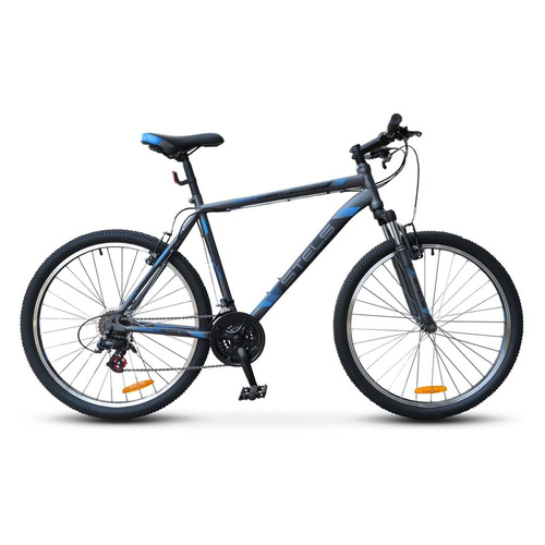 цена на Велосипед Stels Navigator-500 V (2017) горный рам.:18 кол.:26 антрацитовый/синий 16.28кг (LU068003