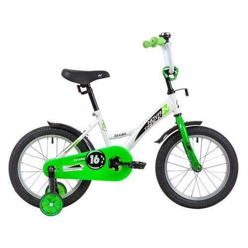 цена на Велосипед Novatrack Strike (2020) городской кол.:16 белый/зеленый 10.7кг (163STRIKE.WTG20)