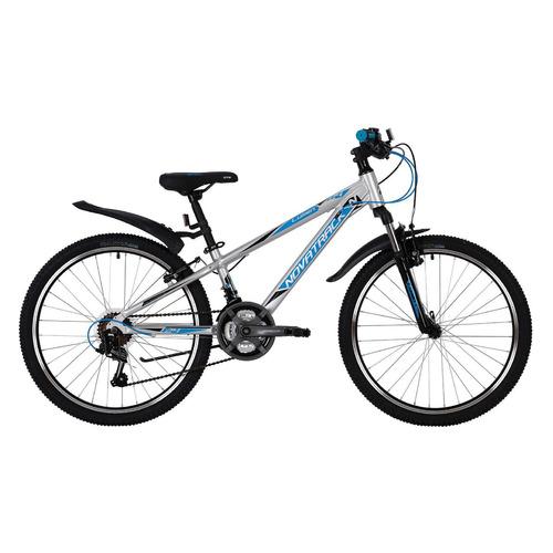 Велосипед Novatrack Lumen (2019) горный рам.:13 кол.:24 серебристый 14.3кг (24AHV.LUMEN.13SL9)
