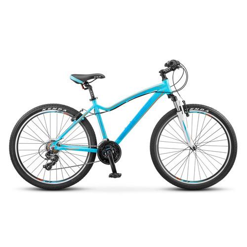 Велосипед Stels Miss-6000 V (2017) горный рам.:15 кол.:26 морская волна/оранжевый 14.16кг (LU07132 велосипед stels miss 6000 v 26 v030 2018 рама 15 морская волна оранжевый