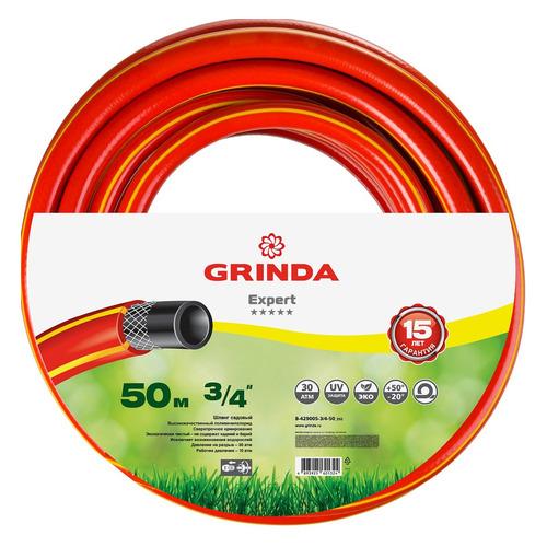 Шланг Grinda 8-429005-3/4-50_z02 3/4 50м поливочный армированный красный набор поливочный grinda 3 8 9 5мм 15м с фитингами и пистолетом 428495