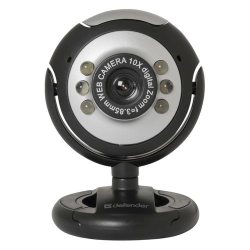 Фото - Web-камера DEFENDER C-110, черный и серый [63110] web камера defender g lens 2693 коричневый и черный [63693]