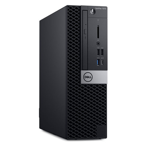 Компьютер DELL Optiplex 7070, Intel Core i9 9900, DDR4 16Гб, 512Гб(SSD), Intel UHD Graphics 630, DVD-RW, CR, Windows 10 Professional, черный [7070-6661] компьютер