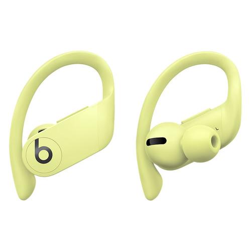 Наушники с микрофоном BEATS Powerbeats Pro, Bluetooth, вкладыши, желтый весенний [mxy92ee/a] наушники с микрофоном beats powerbeats 3 bluetooth вкладыши черный [ml8v2ee a]