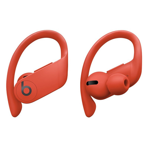 Наушники с микрофоном BEATS Powerbeats Pro, Bluetooth, вкладыши, красный огненный [mxya2ee/a] наушники с микрофоном beats powerbeats 3 bluetooth вкладыши черный [ml8v2ee a]