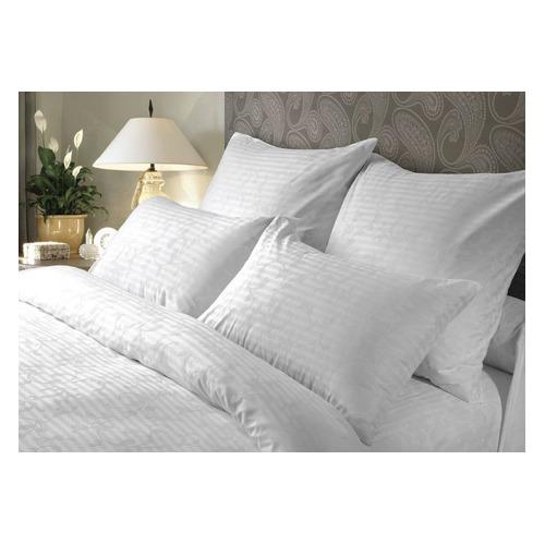 Комплект постельного белья Verossa Кружевная сказка евро сатин страйп белый (738048)