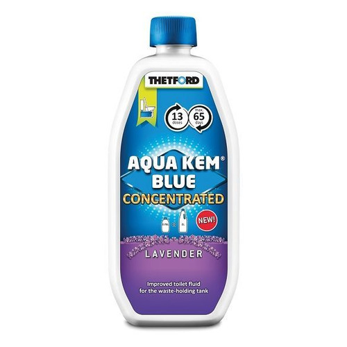Фото - Жидкость для биотуалетов Thetford Aqua Kem Blue Concentrated Lavender биоактиватор 0.78л (30627CW) расщепитель для нижнего бака thetford aqua kem blue weekender