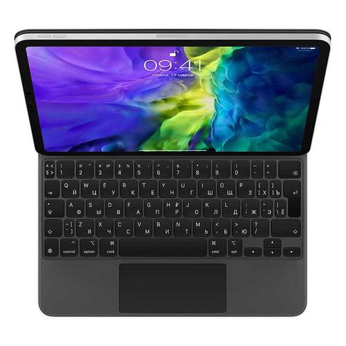 Клавиатура APPLE Magic Keyboard, iPad Pro 2020 11 черный [mxqt2rs/a] чехол клавиатура для apple ipad pro 11 2020 magic keyboard mxqt2rs a