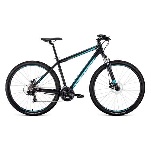 цена на Велосипед Forward Apache 2.0 Disc (2020) горный рам.:19 кол.:29 черный/бирюзовый 15.3кг (54181-09)