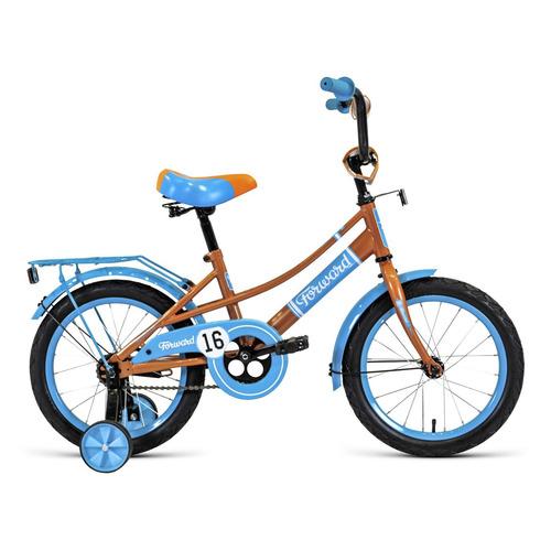 Фото - Велосипед Forward Azure (2020) городской кол.:16 бежевый/голубой 11.1кг (RBKW0LNG1020) велосипед forward racing 16 girl compact 2015