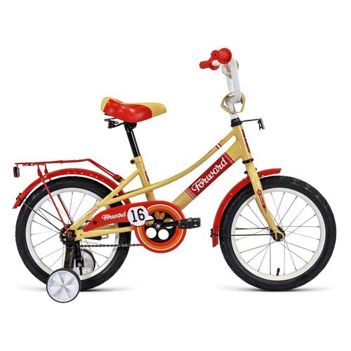 Фото - Велосипед Forward Azure (2020) городской кол.:16 бежевый/красный 11.1кг (RBKW0LNG1021) велосипед forward racing 16 girl compact 2015