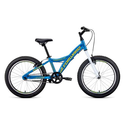 Велосипед Forward Comanche 1.0 (2020) горный кол.:20 голубой/желтый 10.4кг (RBKW01601002) comanche heart
