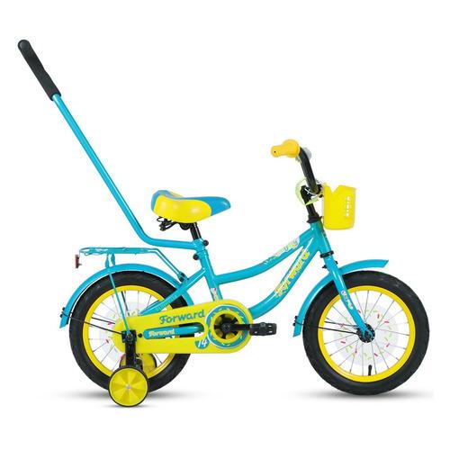 Фото - Велосипед Forward Funky (2020) городской кол.:14 бирюзовый/желтый 10.8кг (RBKW0LNF1020) городской велосипед elops 520