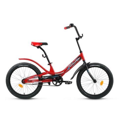Фото - Велосипед Forward Scorpions 1.0 (2020) городской кол.:20 красный/черный 12.6кг (RBKW05N01002) городской велосипед elops 520