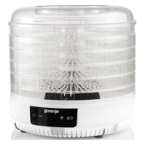 Сушилка для овощей и фруктов GORENJE FDK500GCW, белый, 5 поддонов