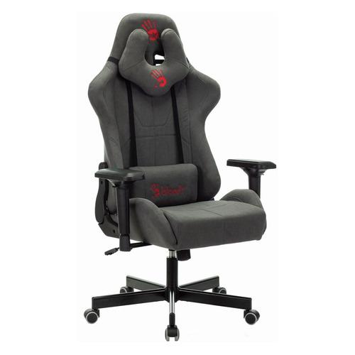 Кресло игровое A4 Bloody GC-700, на колесиках, ткань, серый