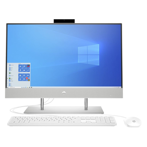 Моноблок HP 24-dp0021ur, 23.8 , Intel Core i7 1065 G7, 16ГБ, 1ТБ SSD, NVIDIA GeForce MX330 - 2048 Мб, Windows 10, серебристый [14q24ea]  - купить со скидкой