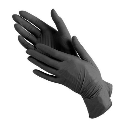 Перчатки неопудренные BENOVY одноразовые, размер: XL, нитрил, 100шт, цвет черный