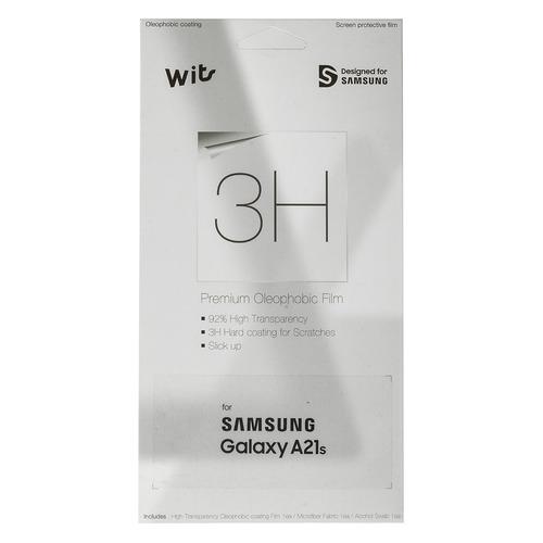 цена на Защитная пленка для экрана SAMSUNG Wits для Samsung Galaxy A21s, прозрачная, 1 шт [gp-tfa217wsatr]