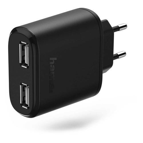 Фото - Сетевое зарядное устройство HAMA H-173608, 2xUSB, 2.4A, черный rt 2xusb