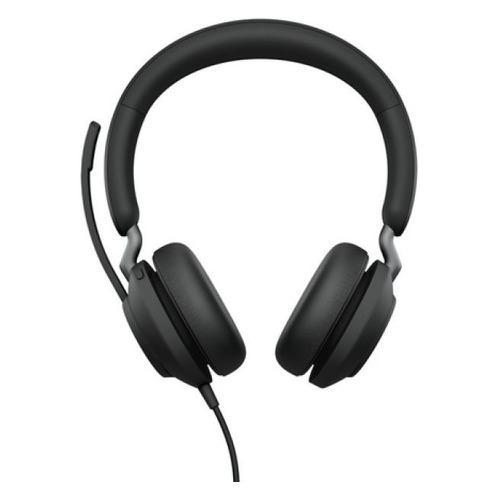 Гарнитура JABRA Evolve2 40 MS Stereo, для компьютера, накладные, черный [24089-999-899]