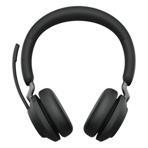Гарнитура JABRA Evolve2 65, Link380a MS Stereo, для компьютера, накладные, bluetooth, черный [26599-999-999]