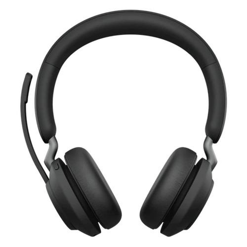 Гарнитура JABRA Evolve2 65, Link380c MS Stereo, для компьютера, накладные, bluetooth, черный [26599-999-899]
