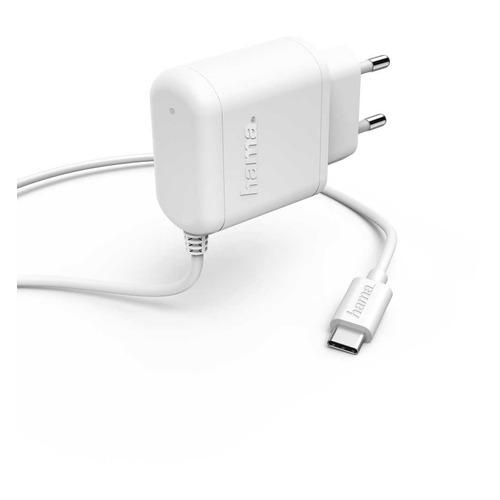 Фото - Сетевое зарядное устройство HAMA H-183234, USB type-C, 3A, белый сетевое зарядное устройство hama h 173617 usb type c 3a черный