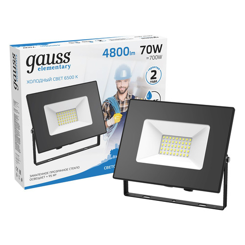 Прожектор уличный GAUSS 613100370, 70Вт