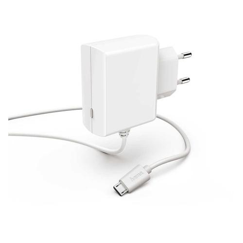 цена на Сетевое зарядное устройство HAMA H-183249, microUSB, 2.4A, белый