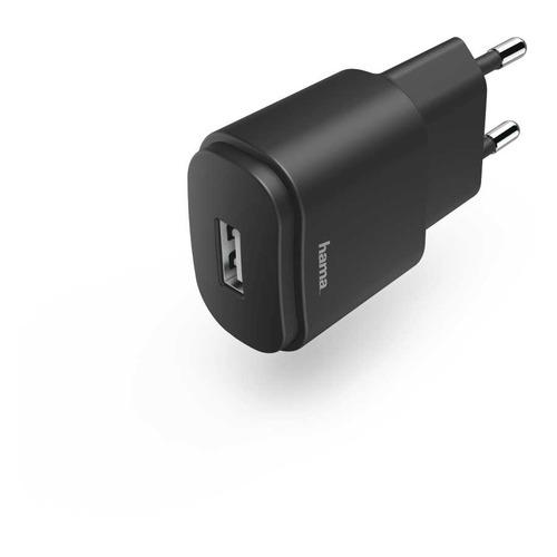 Сетевое зарядное устройство HAMA H-183260, USB, 1.2A, черный цена 2017