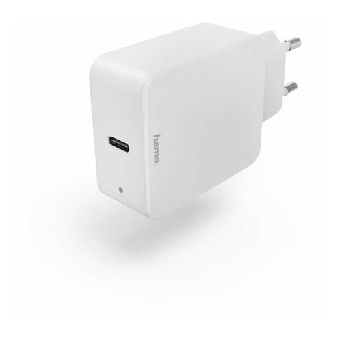 Фото - Сетевое зарядное устройство HAMA H-183277, USB type-C, 3A, белый сетевое зарядное устройство hama h 173617 usb type c 3a черный