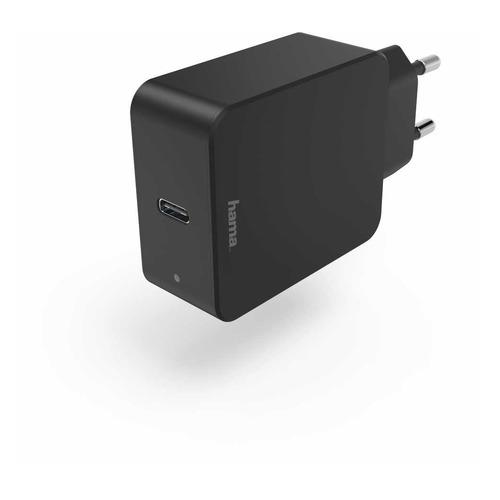 цена на Сетевое зарядное устройство HAMA H-183284, USB type-C, 3A, черный