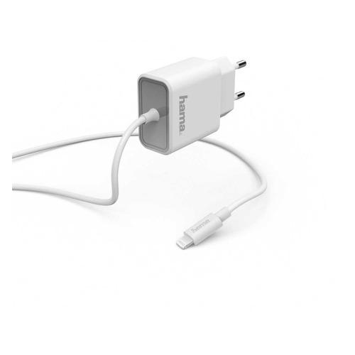 Фото - Сетевое зарядное устройство HAMA H-183314, 8-pin Lightning (Apple), 3A, белый сетевое зарядное устройство hama h 183265 8 pin lightning 2 4а белый