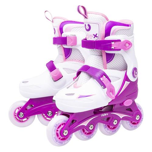 Коньки роликовые Ridex Cricket жен. ABEC 3 кол.:72мм р.:39-42 фиолетовый/белый (УТ-00016150)