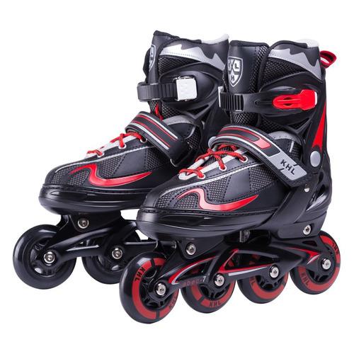 роликовые коньки Коньки роликовые Ridex KHL Combo ABEC 5 кол.:64мм р.:30-33 черный/красный (УТ-00009136)