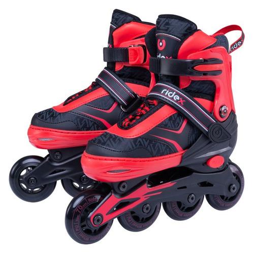 Коньки роликовые Ridex Area ABEC 7 кол.:64мм р.:30-33 красный (УТ-00016157) коньки роликовые navigator т59750н р 30 33 красный