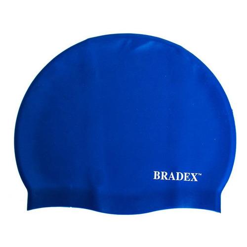 Шапочка для плавания Bradex SF 0328 силикон синий bradex шапочка для плавания bradex полиамид синий