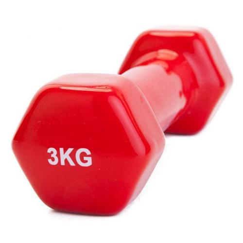 Гантель Bradex SF 0163 1гант. 3кг обрезин. красный недорого