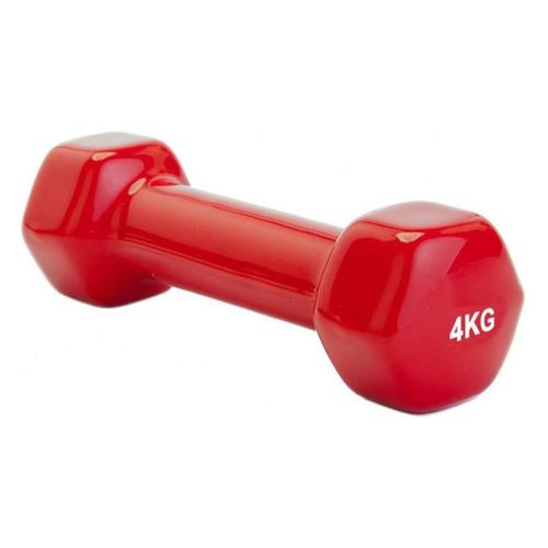 Гантель Bradex SF 0165 1гант. 4кг обрезин. красный недорого
