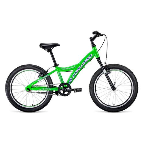 Велосипед Forward Comanche 1.0 (2020) горный кол.:20 зеленый/белый 10.4кг (RBKW01601003) comanche heart