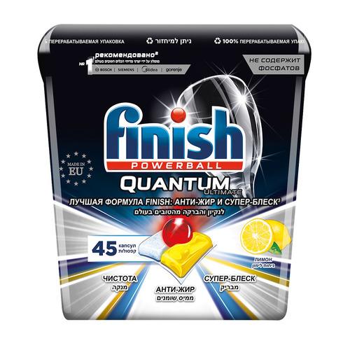 Капсулы FINISH Quantum Ultimate для посудомоечных машин, 45шт [3120237]