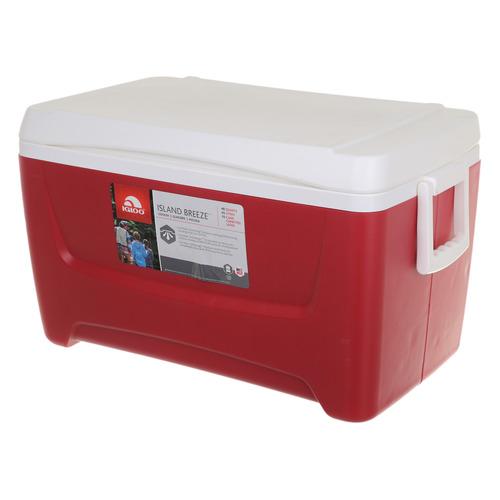 Автохолодильник IGLOO Island Breeze 48, 45л, красный и белый