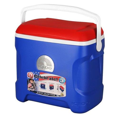 Автохолодильник IGLOO Contour 30Qt Патриот, 28л, синий и красный