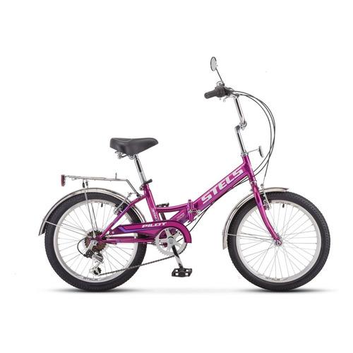 Велосипед Stels Pilot 350 городской рам.:13 кол.:20 фиолетовый 15.6кг (40062-01) велосипед stels pilot 200 gent 20 v021 2017