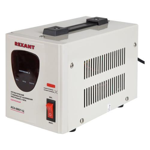 Стабилизатор напряжения REXANT AСН-500/1-Ц, серый [11-5000] стабилизатор напряжения rexant aсн 500 1 ц серый [11 5000]