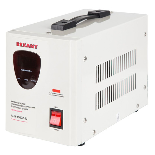 Стабилизатор напряжения REXANT AСН-1 500/1-Ц, серый [11-5002] стабилизатор напряжения rexant аснn 500 1 ц серый [11 5018]
