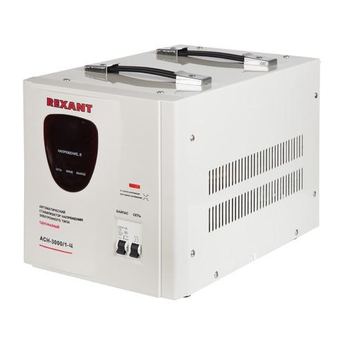 Стабилизатор напряжения REXANT AСН-3 000/1-Ц, серый [11-5004] стабилизатор напряжения rexant aсн 500 1 ц серый [11 5000]